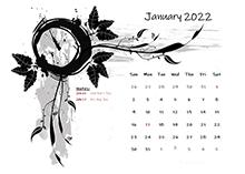2022 Monthly Calendar Design Template