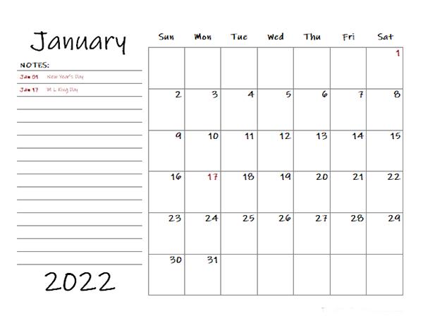 2022 Calendar By Month.Free 2022 Monthly Calendar Templates Calendarlabs