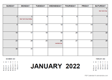 2022 Monthly Planner with Australia Holidays