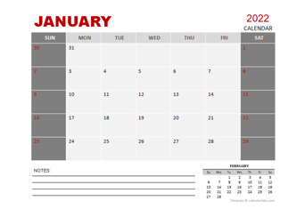 2022 Monthly Powerpoint Calendar