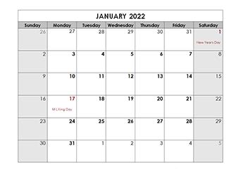 Free Print Calendar 2022.Free 2022 Monthly Calendar Templates Calendarlabs