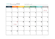 2022 Free Pages Calendar Template