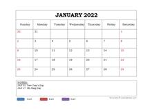 2022 Powerpoint Calendar Template