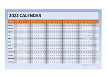 2022 Powerpoint Calendar Timeline