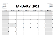 2022 Printable Calendar PDF