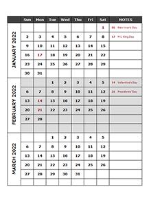 Season Finales 2022 Calendar.2022 Calendar Templates Download Printable Templates With Holidays