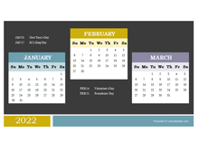 2022 Quarterly Powerpoint Calendar