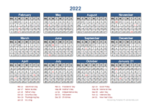 2022 Retail Accounting Calendar 4-4-5