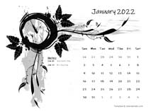 2022 Word Calendar Design Template