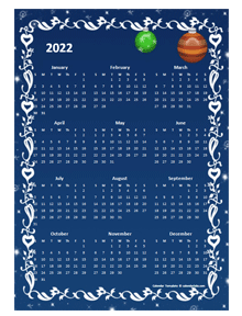 2022 Yearly Calendar Design Template
