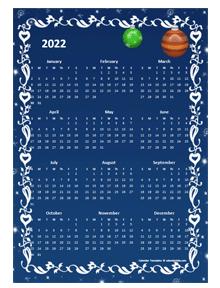 2022 Yearly Calendar Design Template