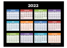 2022 Yearly Calendar For Powerpoint