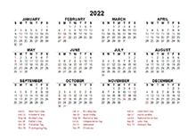 Calendar Lab 2022.Free 2022 Excel Calendar Templates Calendarlabs