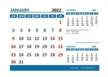 April 2022 Excel Calendar with Holidays