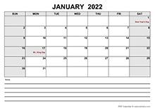 Blank March 2022 Calendar PDF