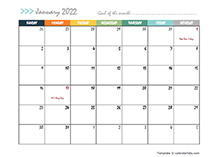 February 2022 Planner Template
