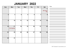 Free Printable December 2022 Calendar PDF
