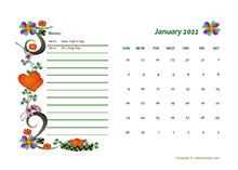 March 2022 Calendar Dates