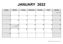 November 2022 PDF Calendar