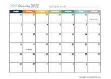 October 2022 Planner Template