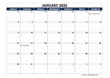 September 2022 Blank Calendar