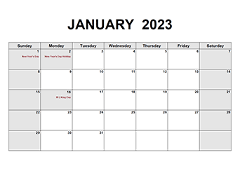 Printable 2023 Pdf Calendar Templates Calendarlabs