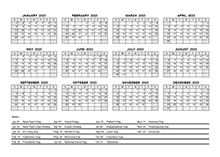 2023 PDF Yearly Calendar With Holidays