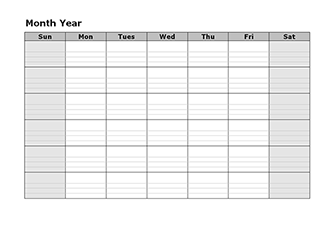 monthly calendar notes