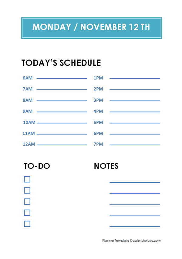 Daily schedule planner template free printable templates daily hourly planner template maxwellsz